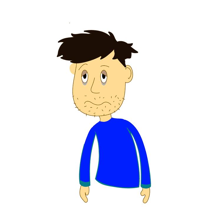 disegno di ragazzo intossicato